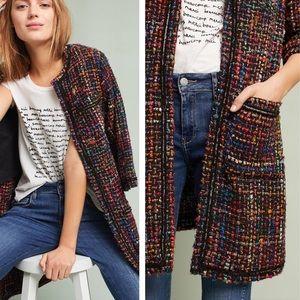 ANTHROPOLOGIE - Tweed Berwyn Top Coat Multi, S/P